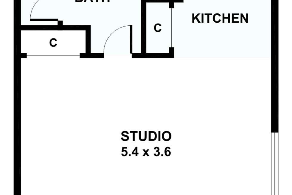 Floorplan of Homely studio listing, 4/10-12 Carroll Street, Richmond VIC 3121