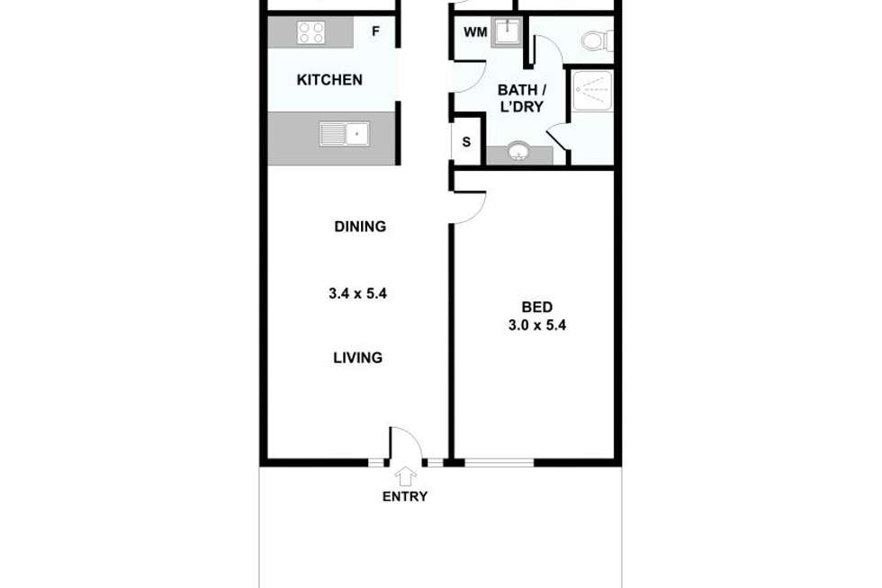 Floorplan of Homely apartment listing, 1/30 Miles Street, Southbank VIC 3006