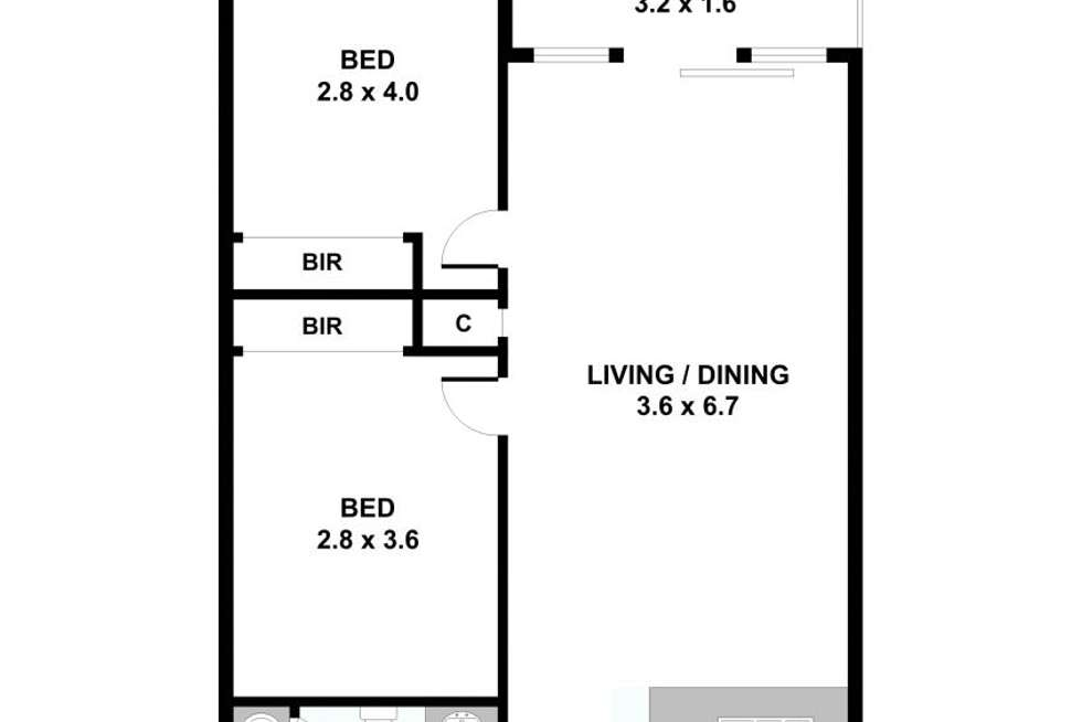 Floorplan of Homely unit listing, 506/52 Nott Street, Port Melbourne VIC 3207