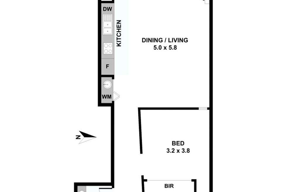 Floorplan of Homely apartment listing, 308/8 Howard Street, Richmond VIC 3121