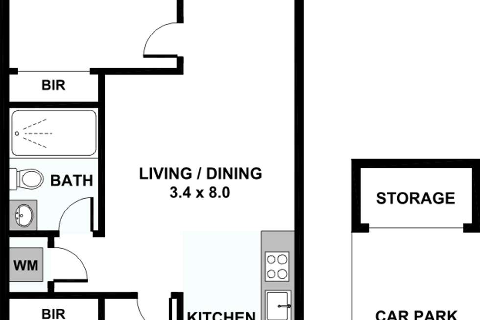 Floorplan of Homely apartment listing, A507/8 Station Street, Caulfield VIC 3162