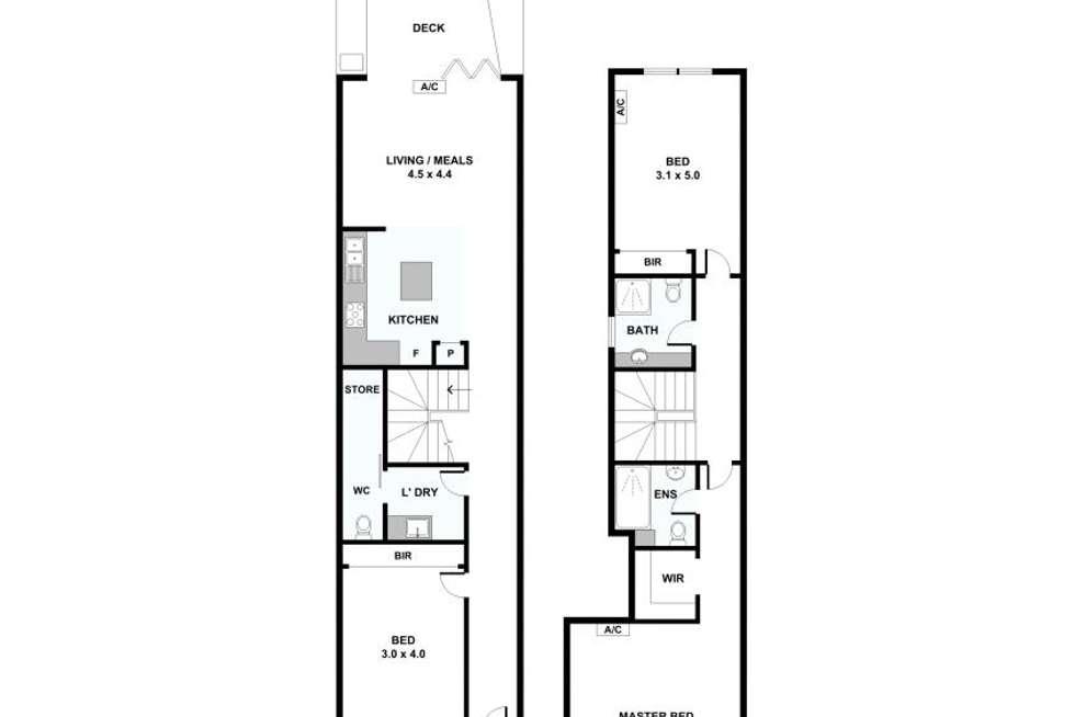 Floorplan of Homely townhouse listing, 49 Somerset Street, Richmond VIC 3121