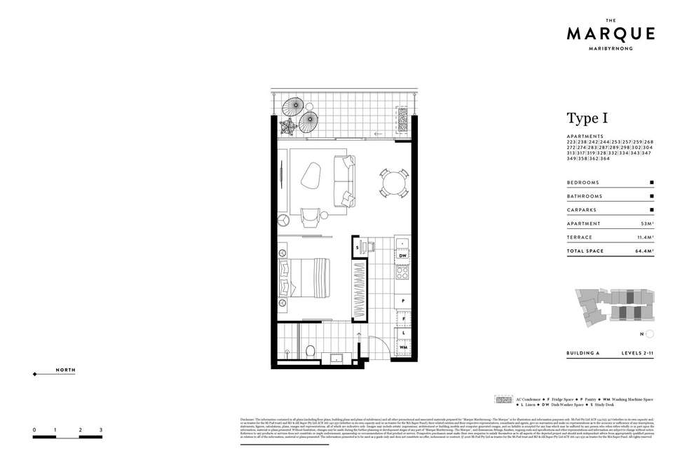 Floorplan of Homely apartment listing, 307/72 Wests Road, Maribyrnong VIC 3032