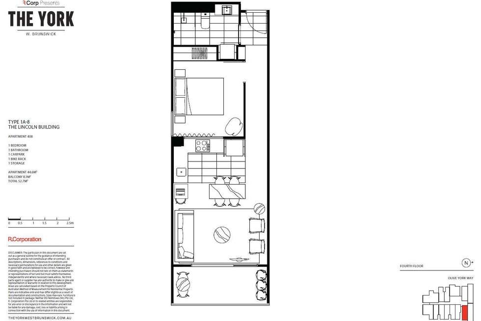 Floorplan of Homely apartment listing, 408/12 Olive York Way, Brunswick West VIC 3055