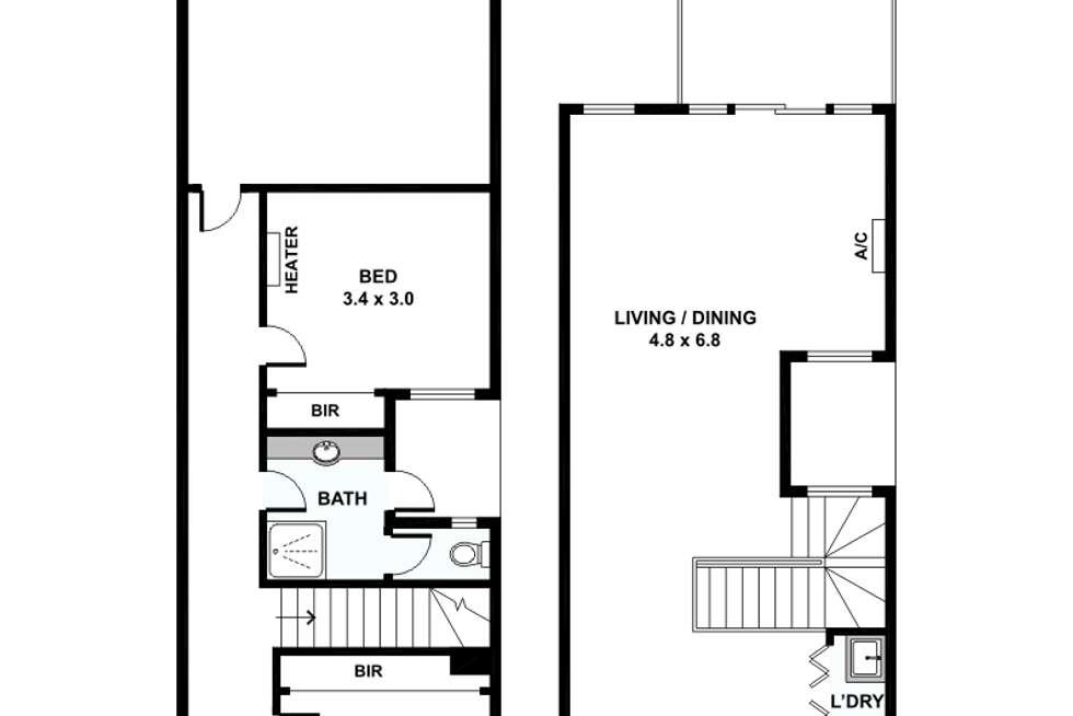 Floorplan of Homely townhouse listing, 6/1-15 Beddison Road, Craigieburn VIC 3064