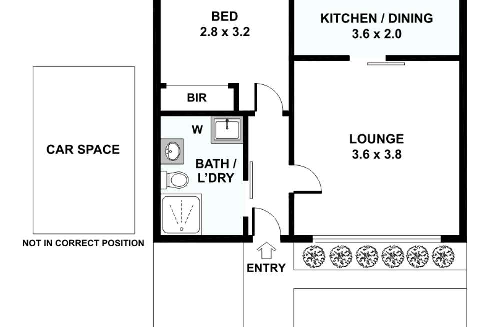 Floorplan of Homely apartment listing, 1/24 Straw Street, Brunswick West VIC 3055