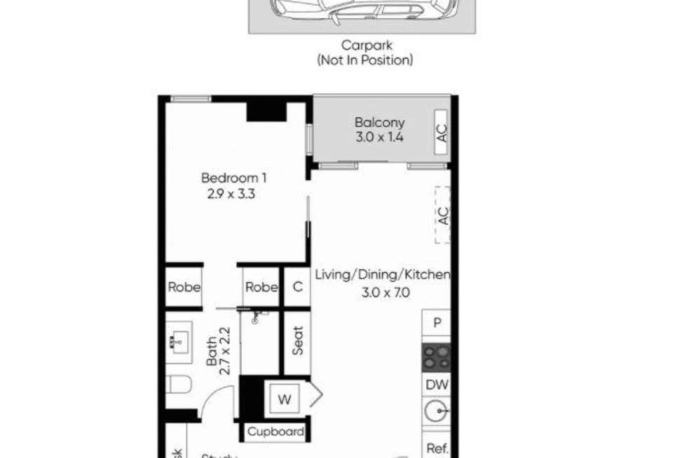 Floorplan of Homely apartment listing, 605N/229 Toorak Road, South Yarra VIC 3141