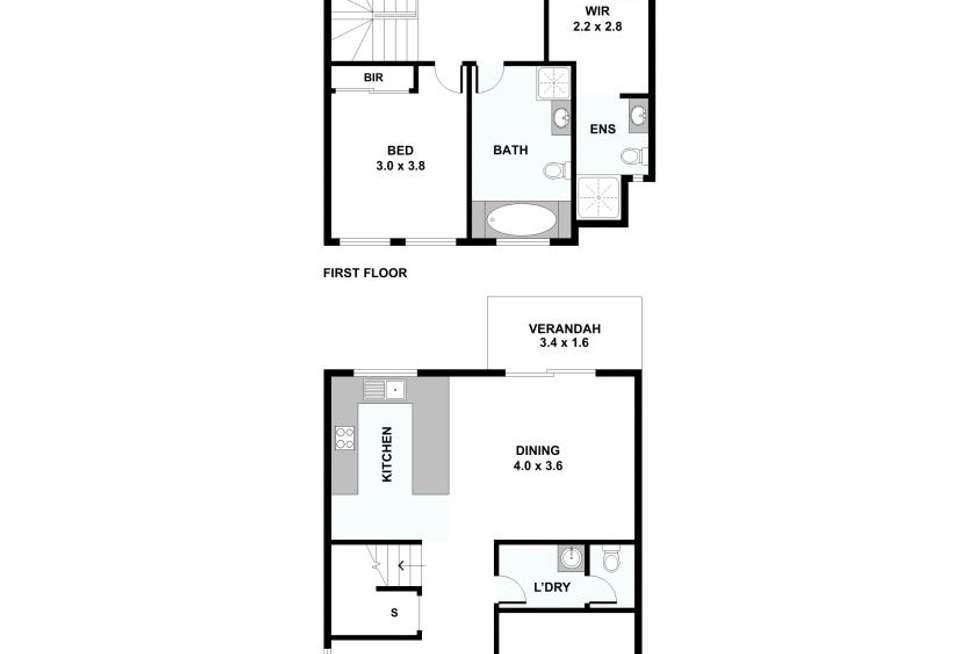 Floorplan of Homely townhouse listing, 17/11 Montree Circuit, Kallangur QLD 4503