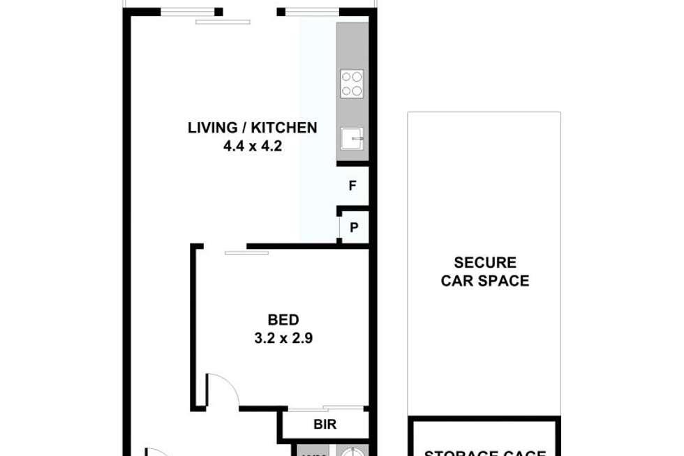 Floorplan of Homely unit listing, 110/8 Garfield Street, Richmond VIC 3121