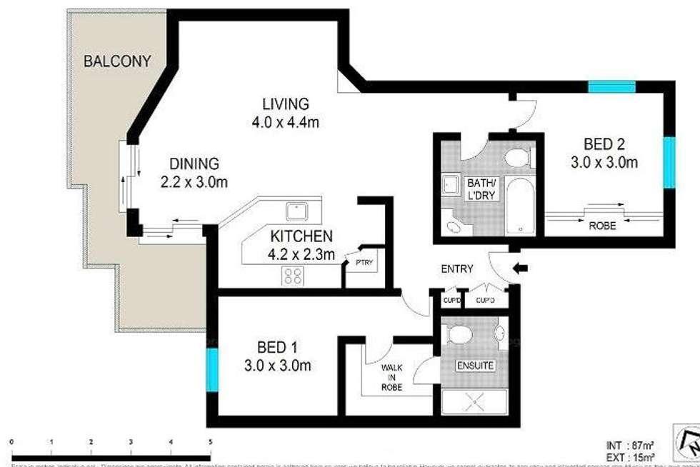Floorplan of Homely unit listing, 14/190 Wellington Road, Kangaroo Point QLD 4169