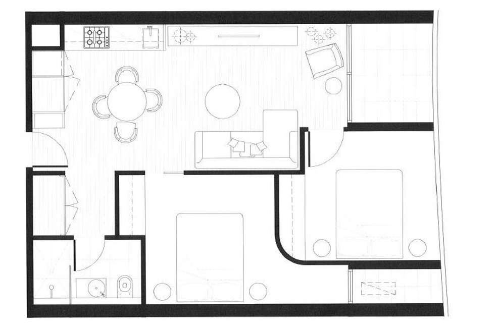 Floorplan of Homely apartment listing, 707/33 Blackwood Street, North Melbourne VIC 3051