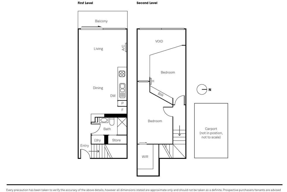 Floorplan of Homely apartment listing, 307/350 Victoria Street, North Melbourne VIC 3051