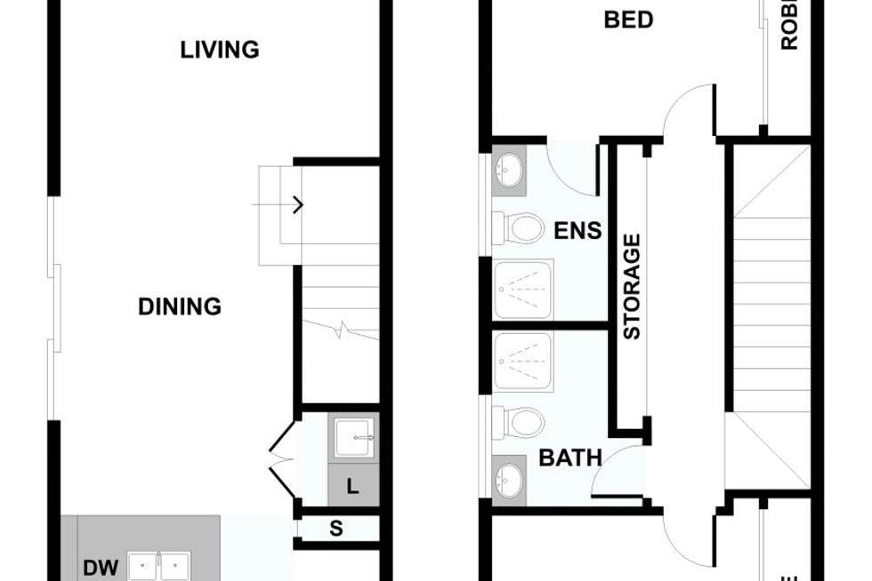 Floorplan of Homely townhouse listing, 19/711 Barkly Street, West Footscray VIC 3012