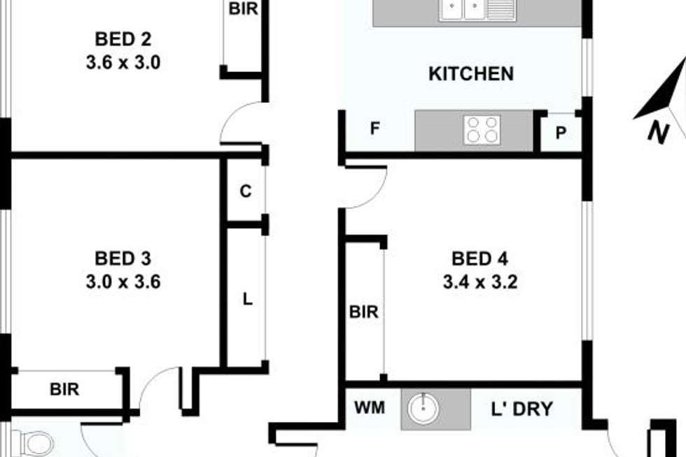 Floorplan of Homely house listing, 6 Kains Avenue, Brassall QLD 4305