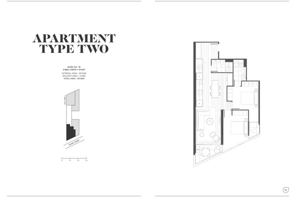 Floorplan of Homely apartment listing, 1602/649 Chapel Street, South Yarra VIC 3141