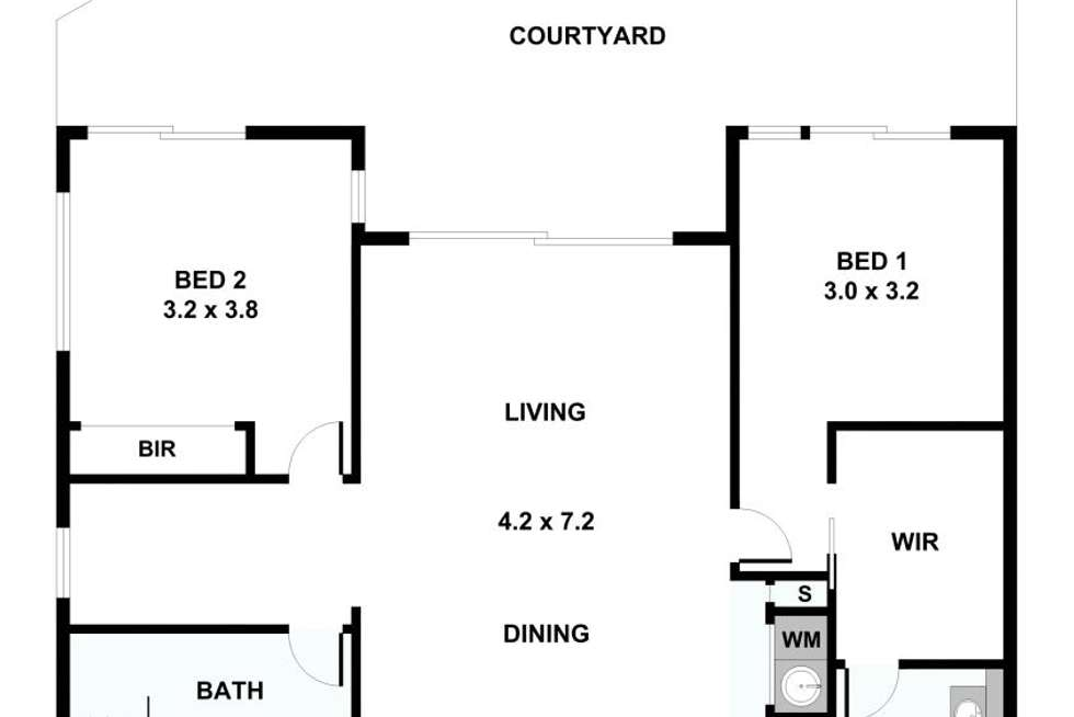 Floorplan of Homely unit listing, C234/151 Mitchell Road, Erskineville NSW 2043