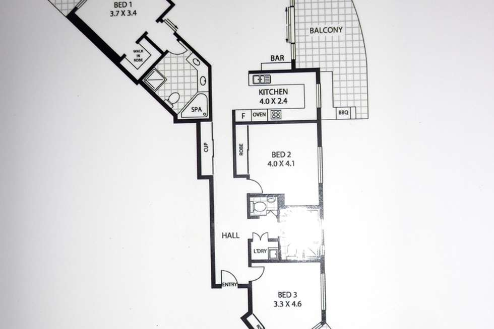 Floorplan of Homely apartment listing, 1404/2 Lake St, Cairns City QLD 4870