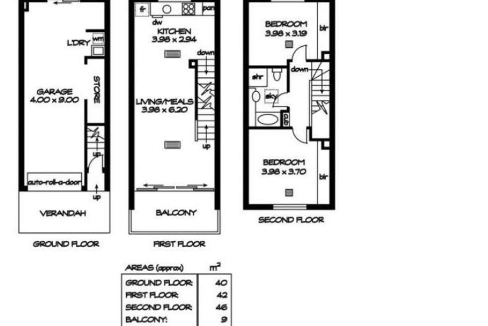 Floorplan of Homely townhouse listing, 8/14 Myers Lane, Adelaide SA 5000