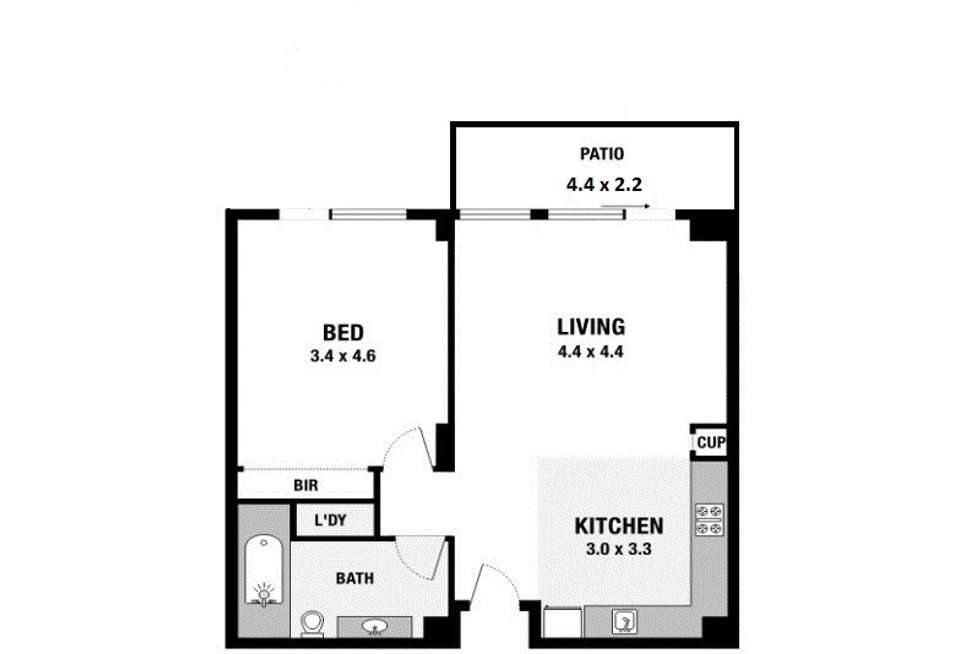 Floorplan of Homely apartment listing, 151/1-7 Moores Crescent, Varsity Lakes QLD 4227