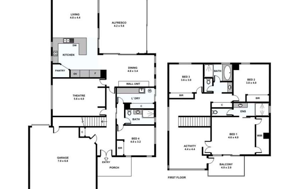 Floorplan of Homely house listing, 16 Burdekin Vista, Hammond Park WA 6164
