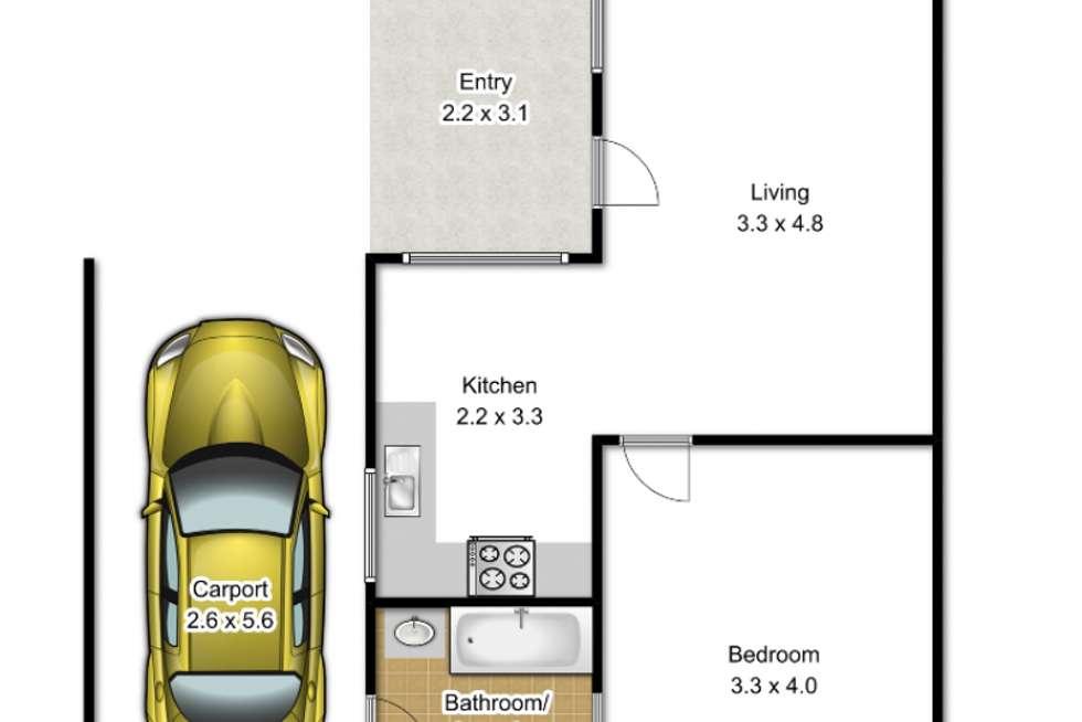 Floorplan of Homely semiDetached listing, 4/57 Bank Street, Traralgon VIC 3844