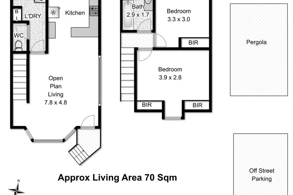 Floorplan of Homely villa listing, 5/88A Hilton Road, Claremont TAS 7011
