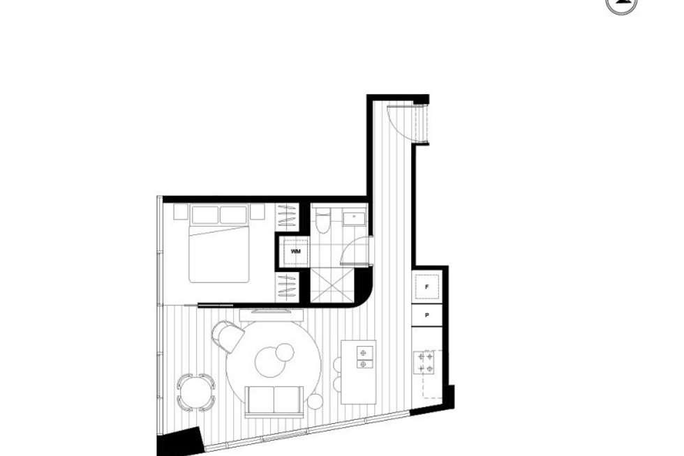 Floorplan of Homely apartment listing, 2909/500 Elizabeth Street, Melbourne VIC 3000
