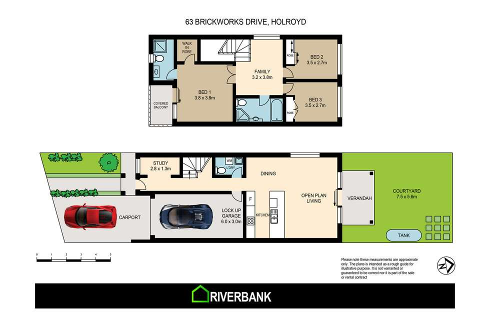Floorplan of Homely house listing, 63 Brickworks Drive, Holroyd NSW 2142