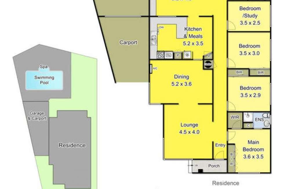 Floorplan of Homely house listing, 27 Janet Crescent, Bundoora VIC 3083