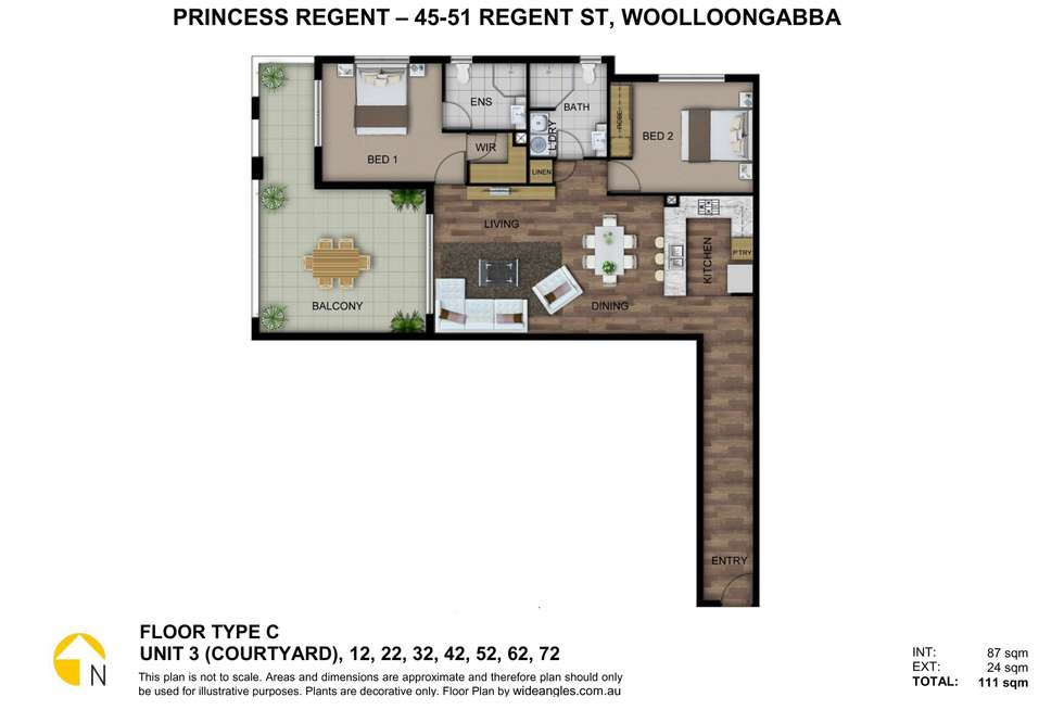 Floorplan of Homely apartment listing, 45 Regent street, Woolloongabba QLD 4102