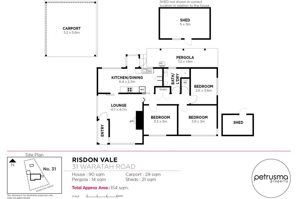 Floorplan of Homely house listing, 31 Waratah Road, Risdon Vale TAS 7016