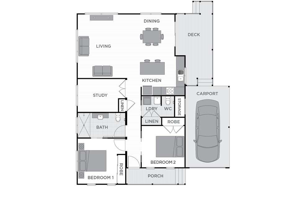 Floorplan of Homely retirement listing, 48/1 Norman Street, Lake Conjola NSW 2539