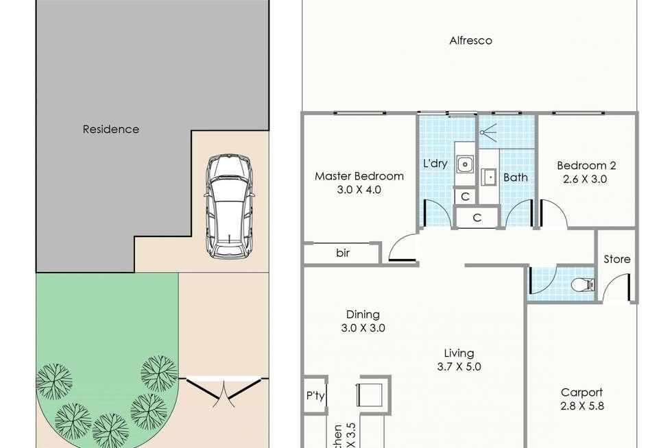 Floorplan of Homely unit listing, 7 Tapper Lane, Claremont WA 6010