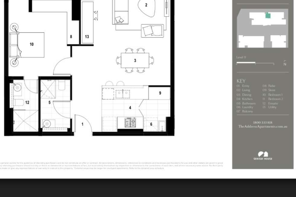 Floorplan of Homely apartment listing, 1106/46 Savona Drive, Wentworth Point NSW 2127