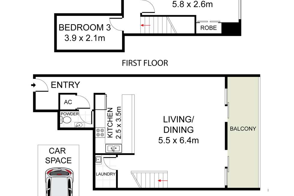 Floorplan of Homely apartment listing, 59/1-4 The Crescent, Strathfield NSW 2135