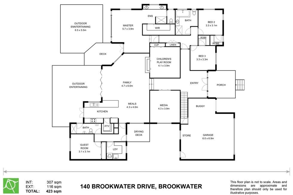 Floorplan of Homely house listing, 140 Brookwater Drive, Brookwater QLD 4300