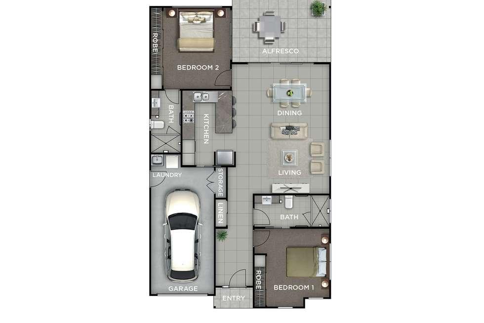 Floorplan of Homely retirement listing, 103/41 Radke Road, Bethania QLD 4205