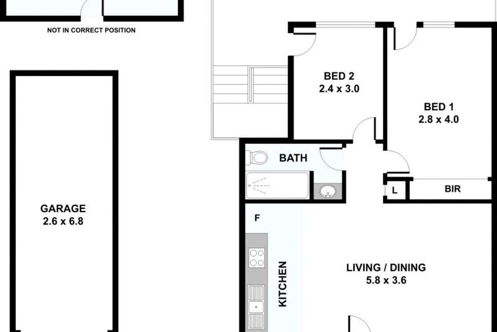 Floorplan of Homely unit listing, 4/9 Westerham Street, Taringa QLD 4068
