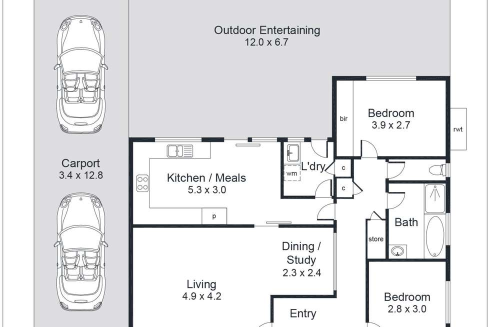 Floorplan of Homely house listing, 18 Ayre Street, Morphett Vale SA 5162