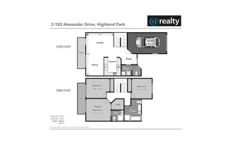 Floorplan of Homely townhouse listing, 2/102 Alexander Drive, Highland Park QLD 4211