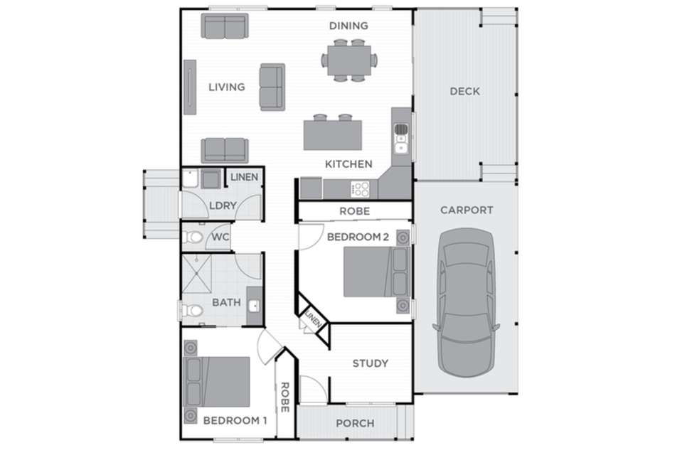 Floorplan of Homely retirement listing, 64/1 Norman Street, Lake Conjola NSW 2539