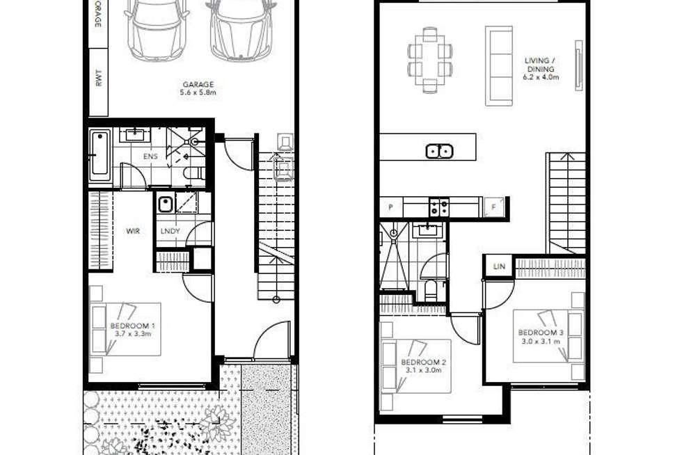 Floorplan of Homely townhouse listing, Lot 42 430 Blackshaws RD, Altona North VIC 3025