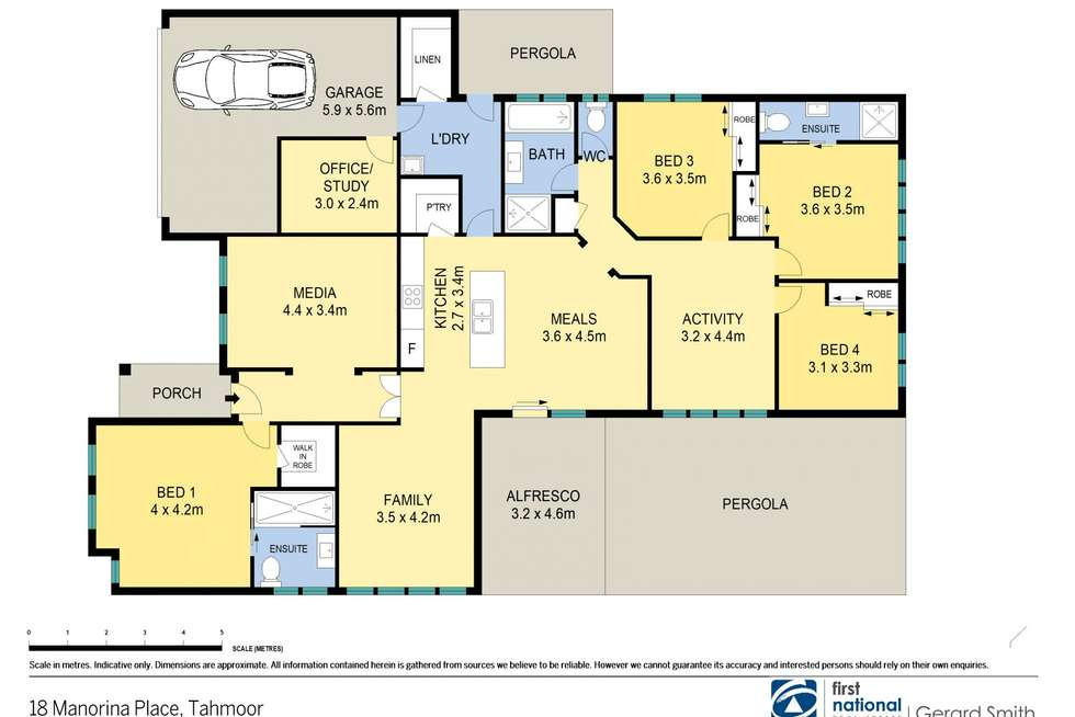 Floorplan of Homely house listing, 18 Manorina Place, Tahmoor NSW 2573