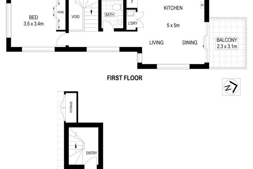 Floorplan of Homely unit listing, 3/72 Smith St, Thornbury VIC 3071