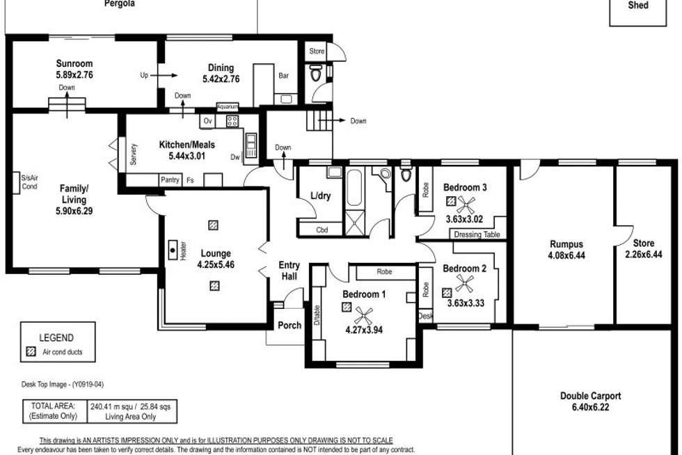 Floorplan of Homely house listing, 21 Greenfield Road, Seaview Downs SA 5049