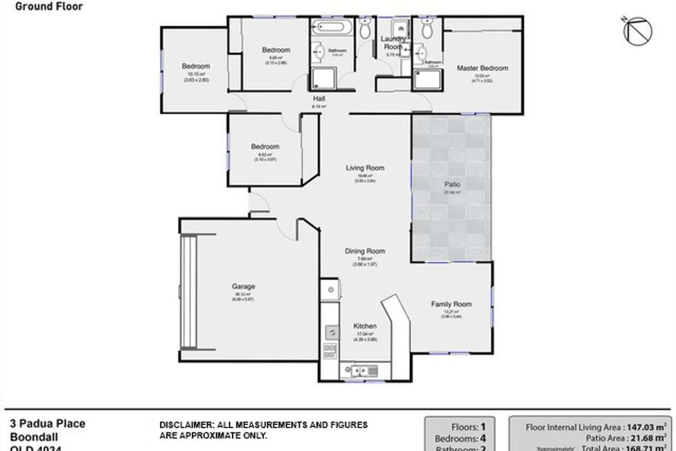Floorplan of Homely house listing, 3 Padua Place, Boondall QLD 4034