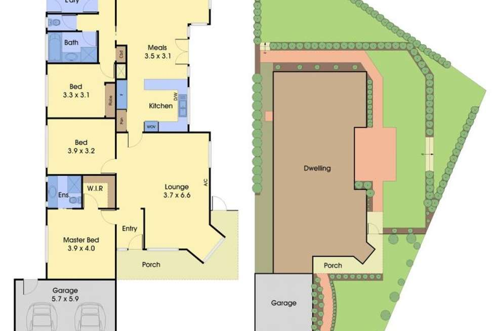 Floorplan of Homely house listing, 2 Pecan Court, Lysterfield VIC 3156