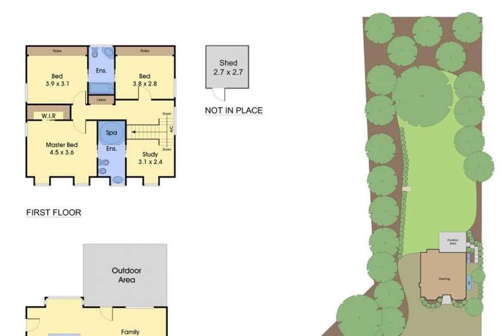 Floorplan of Homely house listing, 11 Wedgewood Avenue, Belgrave VIC 3160