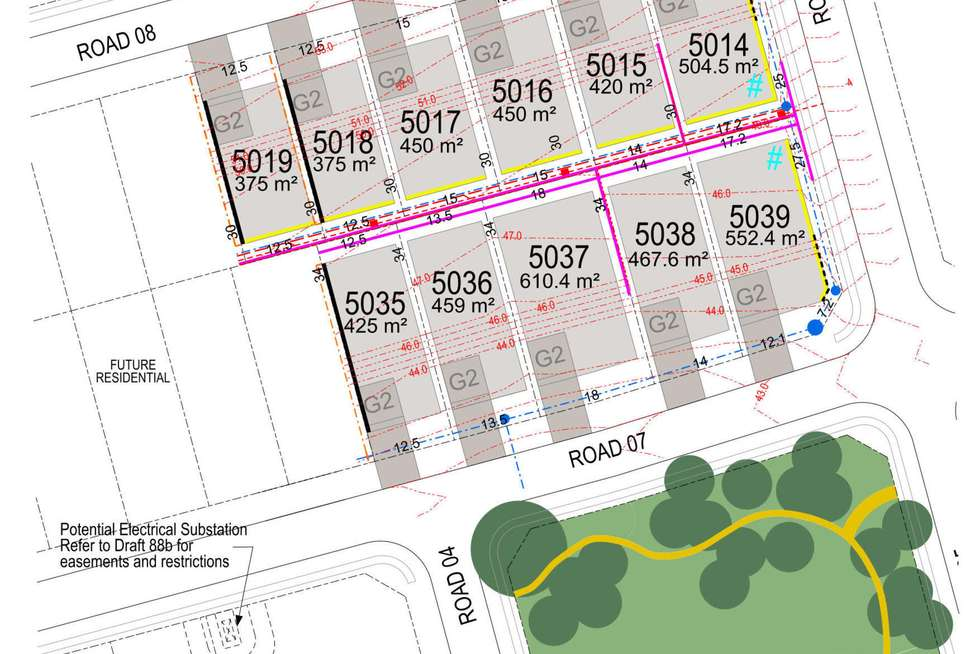 Floorplan of Homely residentialLand listing, 5019 Aspen Release Calderwood, Calderwood NSW 2527