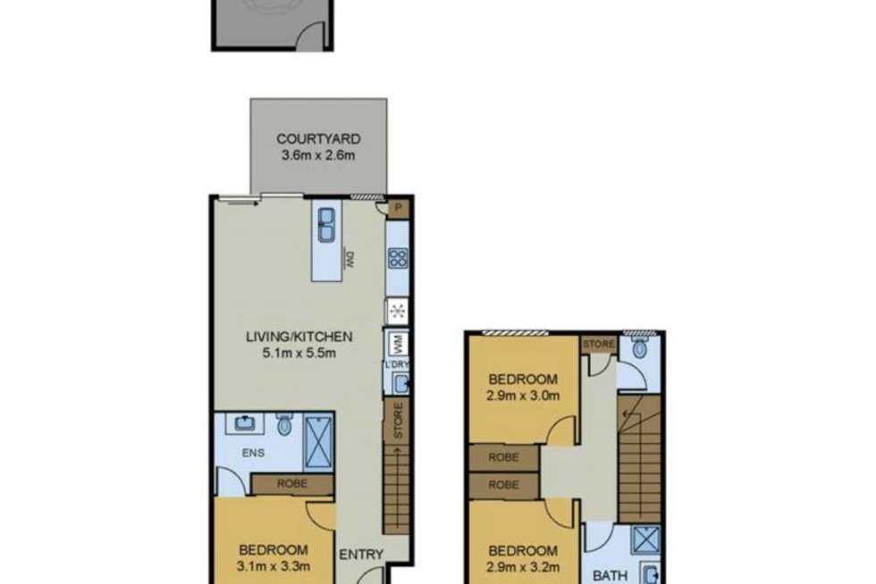 Floorplan of Homely townhouse listing, 1/30 Scenic Road, Redbank Plains QLD 4301